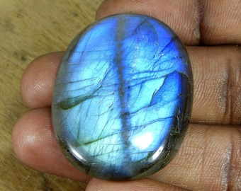 37 Crt. Cheapest Price  Best Quality Designer Natural Tiger Eye Cabochon Loose Gemstone For Making Pendant /& Jewelry Size 45x17x5mm