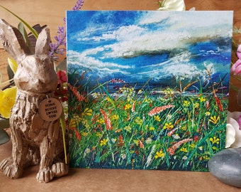5x 'Beauty Always Withstands The Storm' Greetings Cards, Holly Dunham, Free Postage, Artwork, Fine Artist, Local landmarks, Paintings, Art