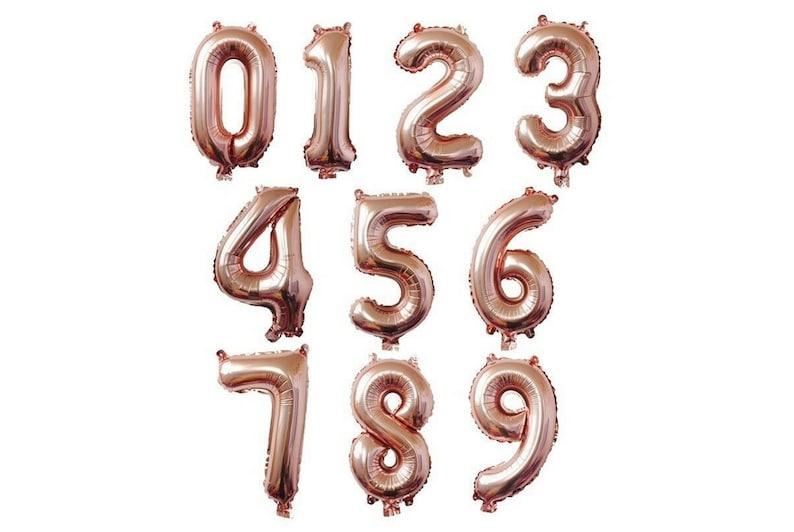 Rose Gold Letter Number Foil 16 Balloon Wedding Celebration Party Decor US Ship