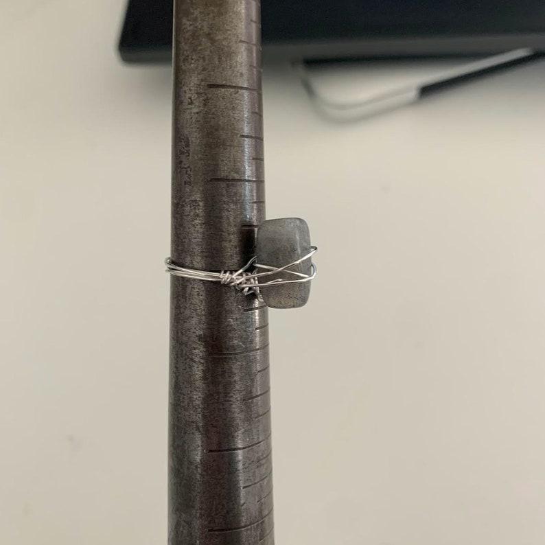 Labradorite wire rings