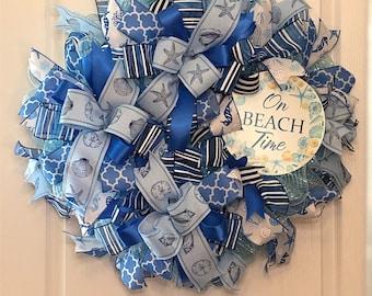 Beautiful Summer Beach Wreath, Custom Wreath, Shore, Best Wreath, Beach Home