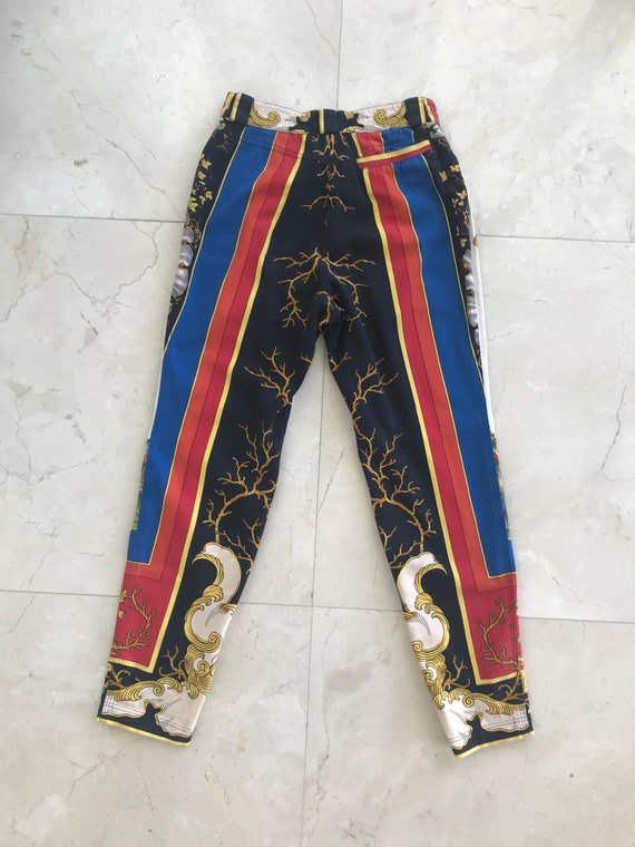 Gianni Versace Couture 1990s Print Pants Size IT44 - image 2