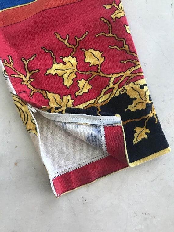 Gianni Versace Couture 1990s Print Pants Size IT44 - image 3