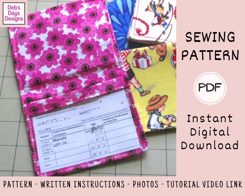Vaccination Card Holder PDF SEWING Pattern Digital Download image 0