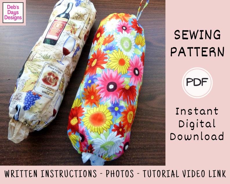 Grocery Bag Holder PDF SEWING Pattern Instant Digital image 0