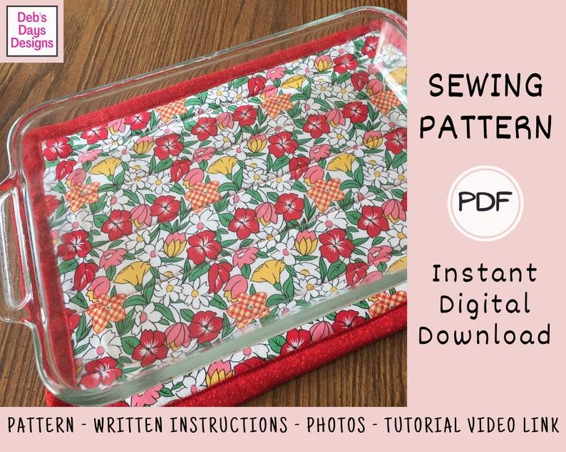 Large Hot Pad PDF Sewing PATTERN Instant Digital Download image 0