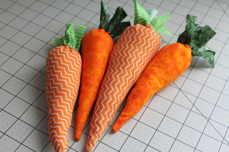 Fabric Carrots PDF SEWING PATTERN  Instant Digital Download image 0