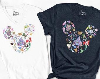 Mickey Ears Disneyworld, Disney Shirt For Women, Disneyland Shirt For Family, Girls Disney Vacation Tee, Family Matching Disney Trip Shirt