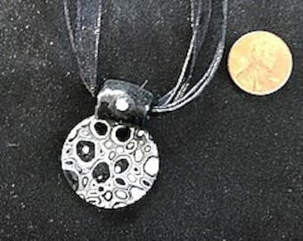 Cane Polymer Clay Pendent