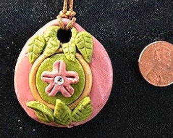 Flower and Leaf Pendent