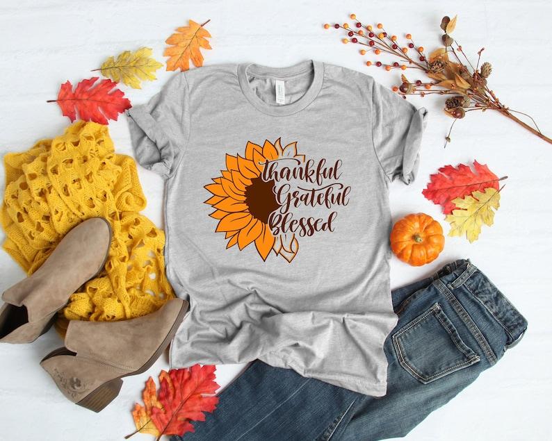 Sunflower Thankful Shirt Masswerks Store
