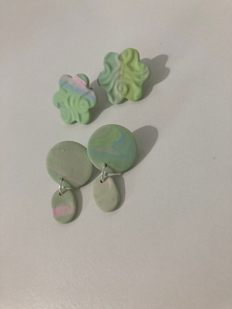 Make A Wish polymer clay earringsUnicorn Collection
