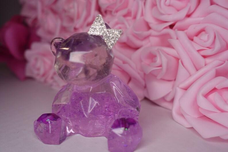 Mini Bear Figurine Handmade Resin Teddy Bear For Office Home and China Cabinet Decor