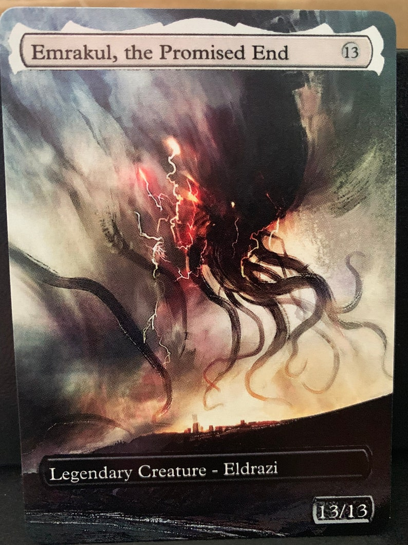 Commander = normal card thickness MTG Alter Emrakul the Promised End FA