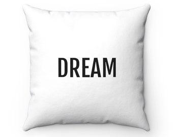 1 Decorative Pillow Round White Uni-Tip-DM 50 cm approx-Shabby * Deco Dreams