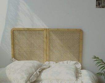 Rattan Bedhead Folding Low Bed Headboard, Single
