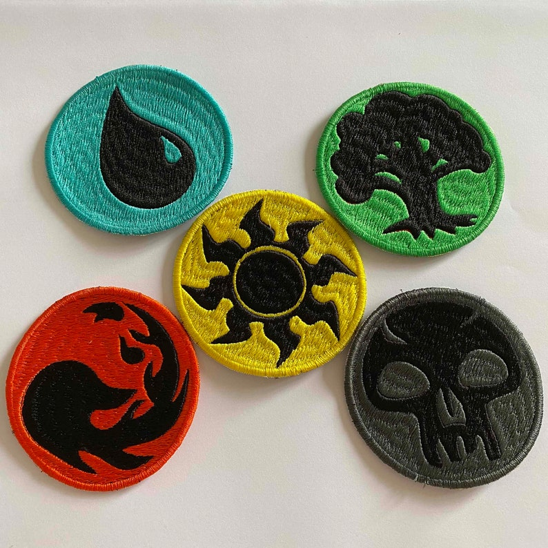 MTG MANA Inspired  Sew-On Patches Set of 5
