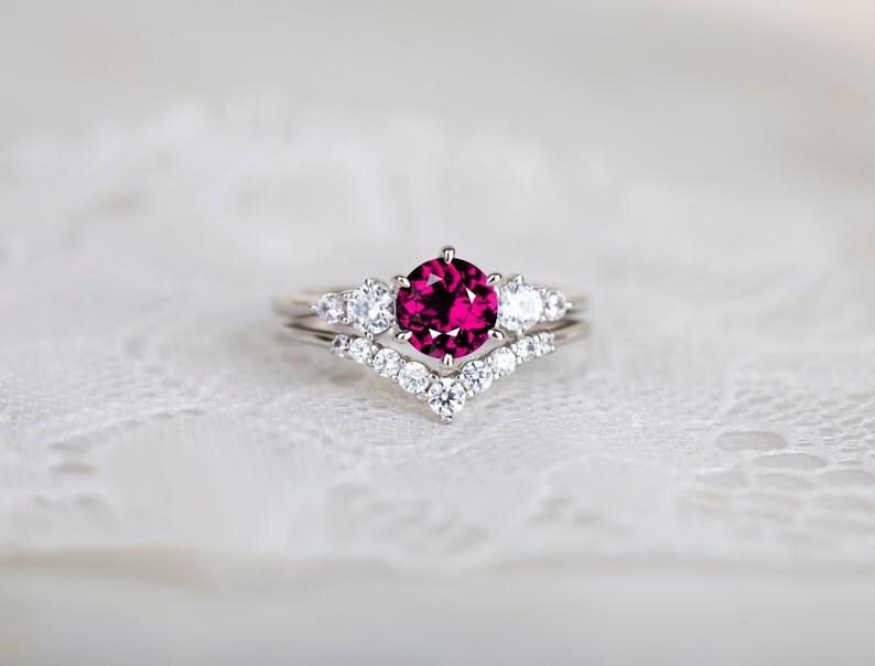 Sterling silver Handmade jewelry Designer jewelry Zircon jewelry 925 Glass field ruby gemstone ring Gift for love one, Silver jewelry