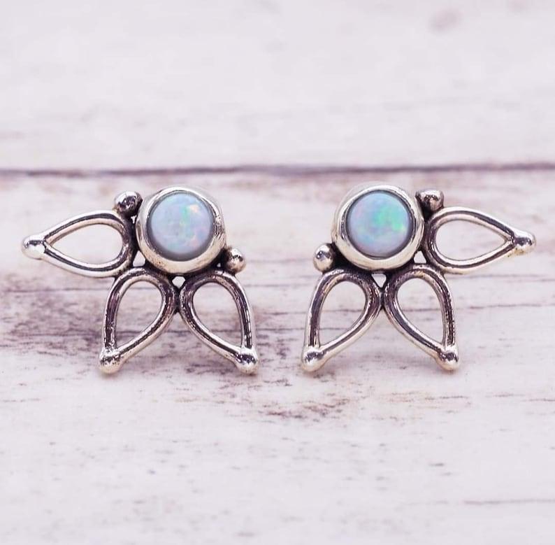 925 Silver Earring Gift For Earring Stud Earring Bride Gift Earrings Gemstone Earring Hot Earring Tops Earring Ethiopian Opal Earring