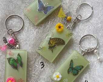 Resin Resin Keychain Butterfly B-Ware