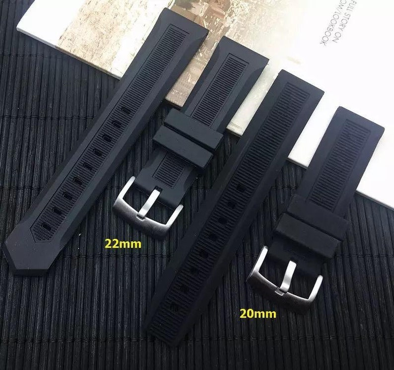 Tool pin New Silicone Rubber 20MM 22MM StrapBand For Tag Heuer Carrera Monaco Formula 1 Aquaracer Watches with Silver Buckle