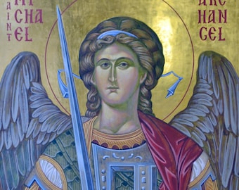 St. Michael Icon and Prayer l A7 Prayer Card