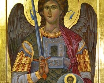 St. Michael Icon | 16 x 12 inch canvas print