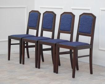 EPOCH 1920 Chair SET Vintage Antique Blue F.A.005.002.000.49