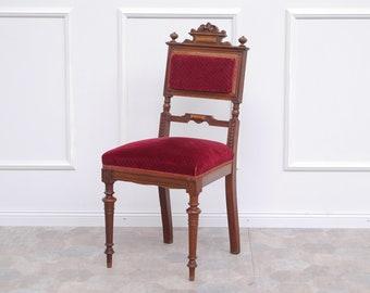 EPOCHE 1890 Chair Antique Gründerzeit Upholstery Red velvet Bordeaux F.A.005.001.000.107