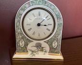 Wedgwood Mantle Table quartz clock.Humming Birds design.Excellent Condition.