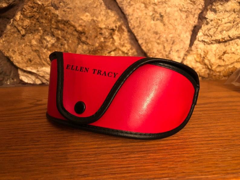 Ellen Tracy Red w Black Trim Soft Case VINTAGE