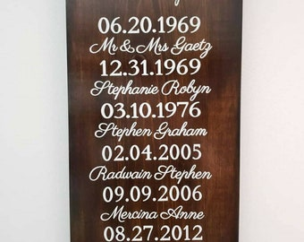 What A Difference A Day Makes Personalized Wood Sign