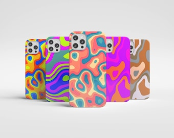 Retro 70s Groovy Phone Case | Vintage Trippy Hippie Aesthetic Iphone Case | 1970s Samsung | Love | Peace | Colorful | Art Abstract | Cool
