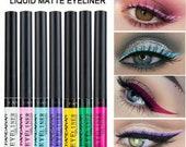 12 Colour Matte Liquid Eyeliner Waterproof Eye Liner Pen Long Lasting Eye Makeup