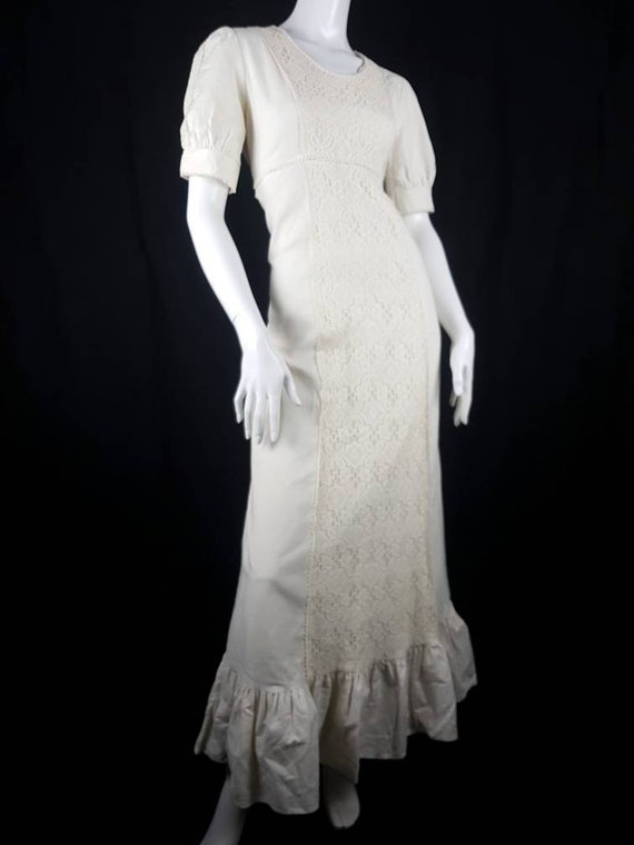 Vintage 1970's Gunne Sax Prairie Dress Size 12 Co… - image 4