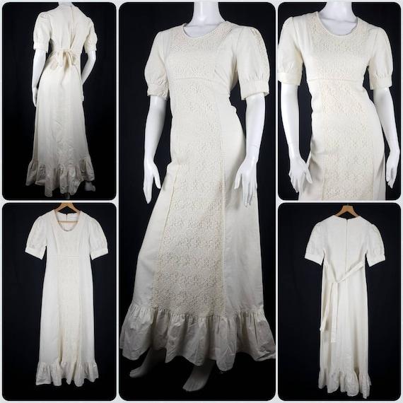 Vintage 1970's Gunne Sax Prairie Dress Size 12 Co… - image 2