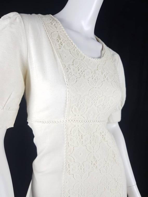 Vintage 1970's Gunne Sax Prairie Dress Size 12 Co… - image 6