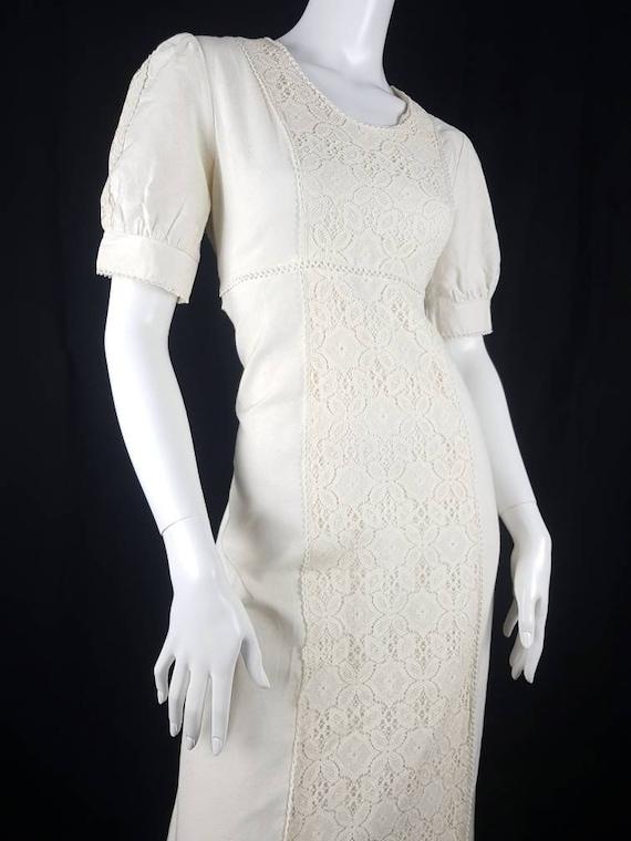 Vintage 1970's Gunne Sax Prairie Dress Size 12 Co… - image 7