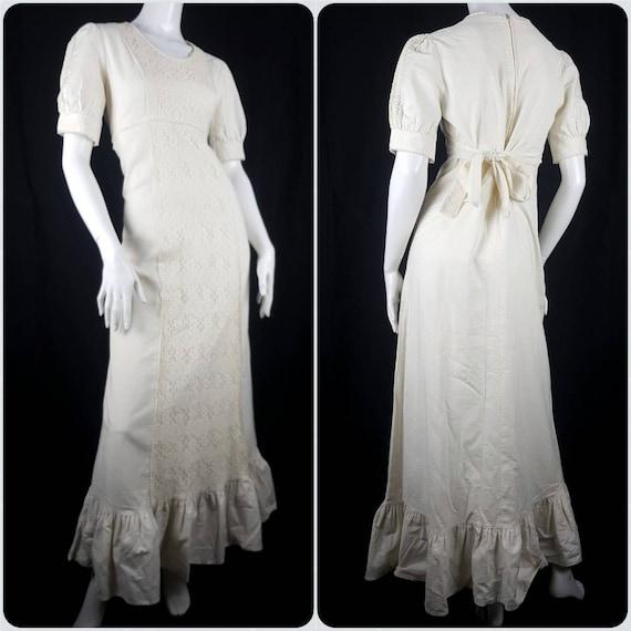 Vintage 1970's Gunne Sax Prairie Dress Size 12 Co… - image 1
