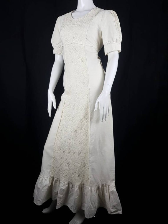 Vintage 1970's Gunne Sax Prairie Dress Size 12 Co… - image 9