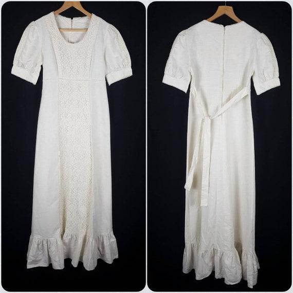 Vintage 1970's Gunne Sax Prairie Dress Size 12 Co… - image 3