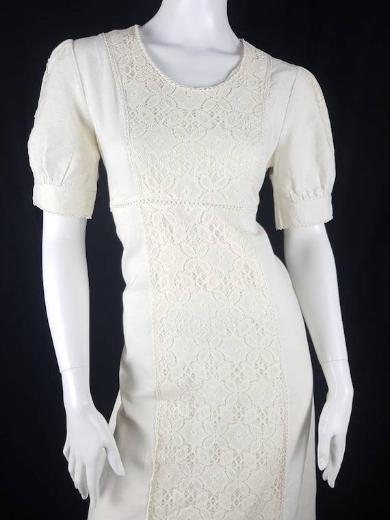 Vintage 1970's Gunne Sax Prairie Dress Size 12 Co… - image 5