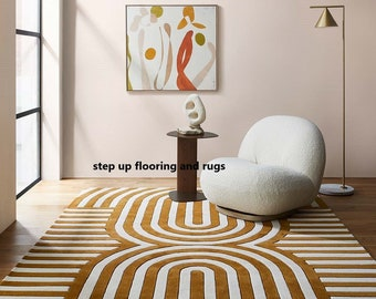 Designer Hand Tufted Wool Rug Area Rug Modern Area Rug Handmade Area Rug Hand Tuft Rugs Morden Rugs Living Room Rugs Bed Vintage Rug