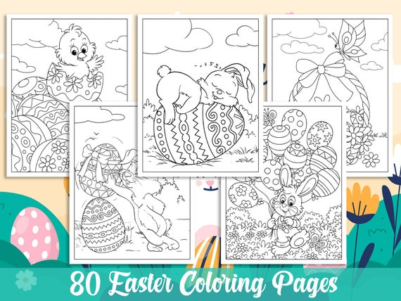 Easter Coloring Pages 80 Printable Easter Coloring Pages for