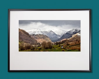Blencathra Lake District, Mountain view, Photograph, High quality print, Option of print only, mounted or framed.