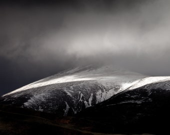 Blencathra, Lake District, B&W Photograph, High quality print, Option of print only, mounted or framed. Available in various sizes