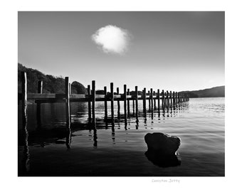 Coniston water, Lake District, B&W Photograph, High quality print, Option of print only, mounted or framed. Available in various sizes