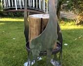 Giraffe Swedish torch stand. Log stand. Log burner. Fire pit