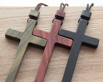 Sword Necklace,Cross Wooden Necklace,Sword Cross Pendant,Mens Necklaces,Tribal Jewelry,Ethnic Necklace,Cross Wood Necklace,Gift for Him