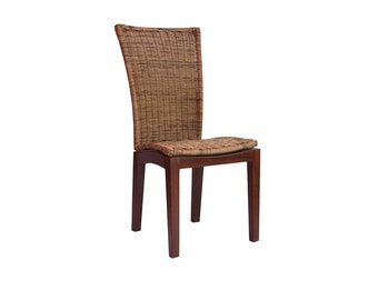 Set of 2 dining chair Casablanca made of rattanget mesh chair real wood